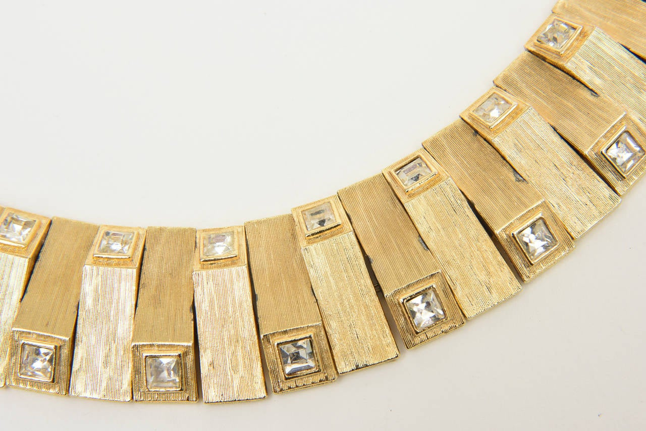 This stunning collar necklace looks real! Costume jewelry at it's best.