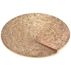 Heavy Signed Lamy Textural French Bronze Bowl / Sculpture