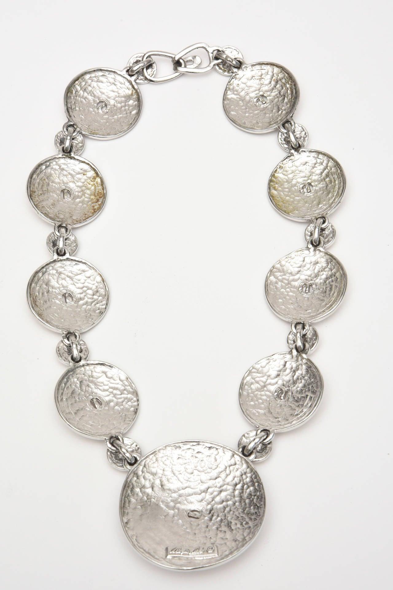 Women's Signed Alexis Kirk Sculptural Disk Necklace For Sale