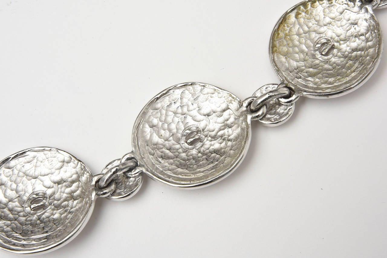 Signed Alexis Kirk Sculptural Disk Necklace For Sale 2