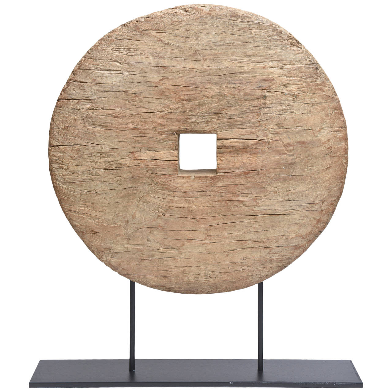 Monumental Chinese Wood and Metal Organic Sculpture