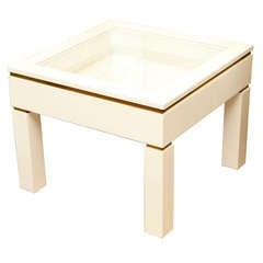 White Lacquered Casa Bella Lighted Object Display Table