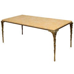 Maison Bagues French Bronze & Marble Cocktail Table