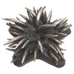 "Sculptural Metal 2 Part ""Sea Urchin"" Box"
