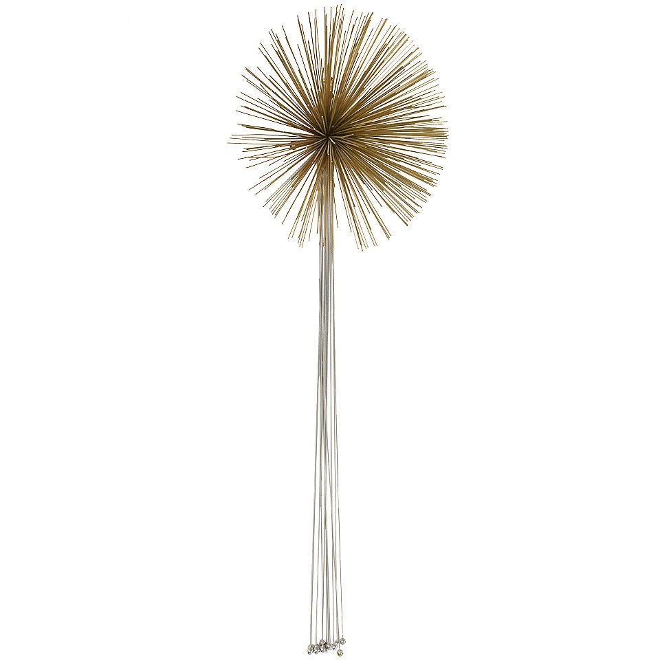 Curtis Jere Mixed Metals Pom Pom/Starburst Hanging Wall Sculpture