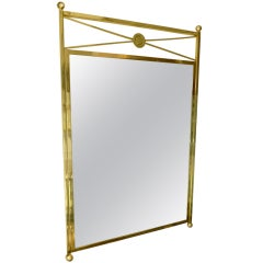 Modernist and Elegant Solid Brass Billy Haines Style Mirror