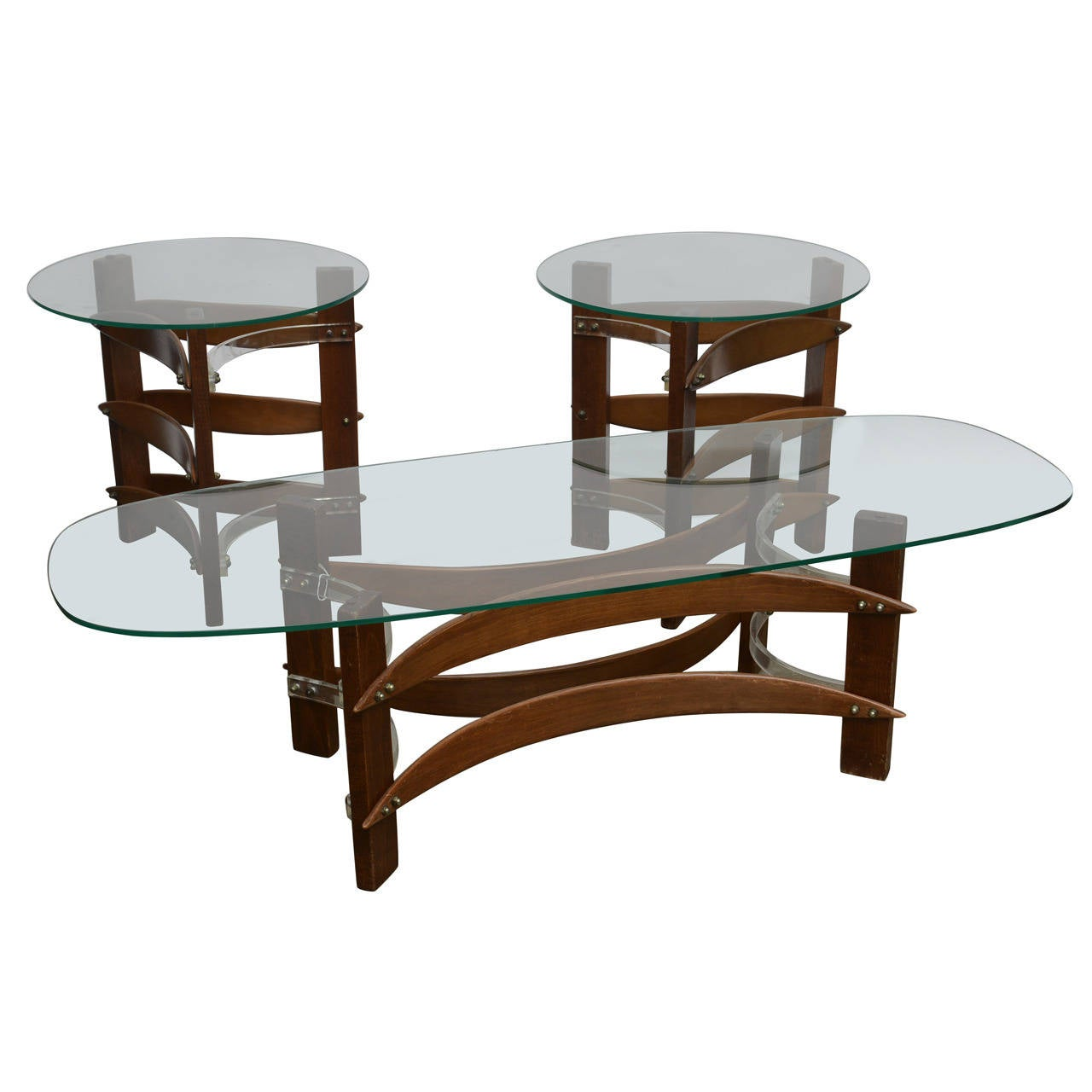 Mid century cocktail and end table set at 1stdibs Side table and coffee table set