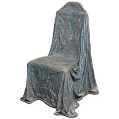 "Fiberglass ""Drape"" Chair Sculpture"