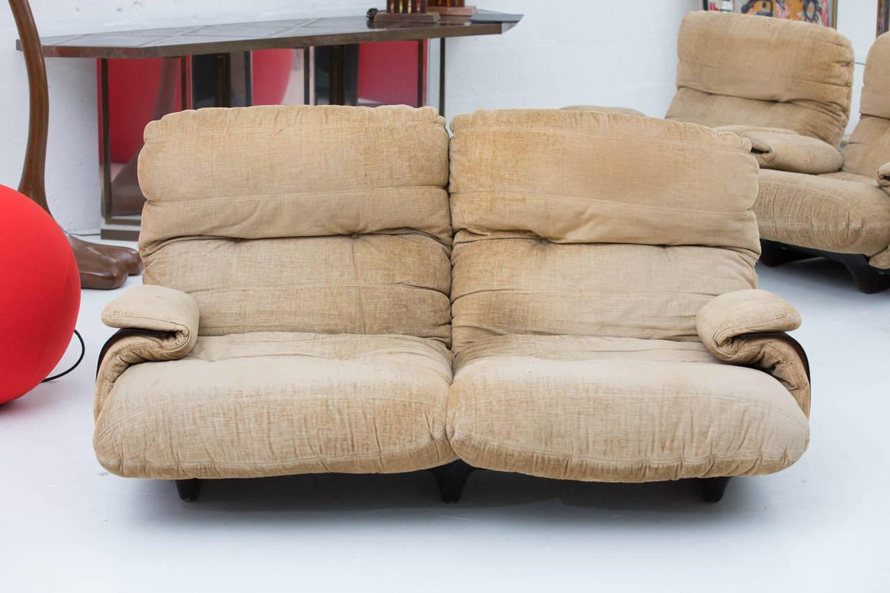 sofa by michel ducaroy for ligne roset for sale at 1stdibs. Black Bedroom Furniture Sets. Home Design Ideas