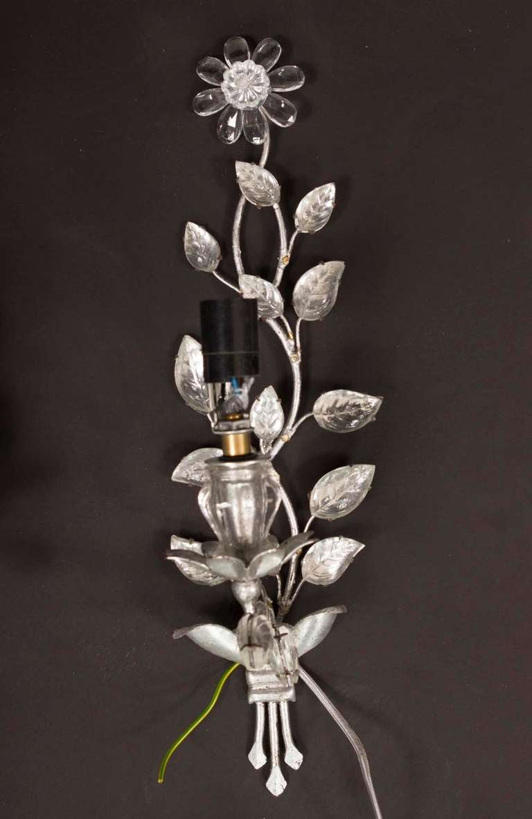 French Crystal Sconces at 1stdibs
