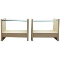 Karl Springer Solid Side Night Tables