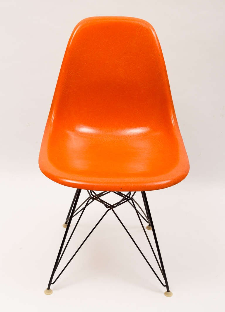 Vintage Set of Charles and Ray Eames Eiffel Chairs for