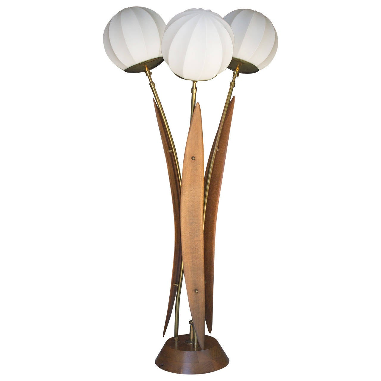 1950s Teak Tall Table Lamp At 1stdibs