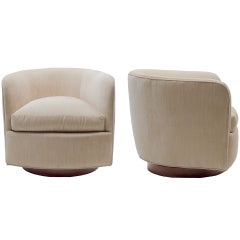 Milo Baughman Swivel Chairs