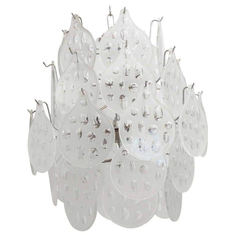 1960s Vistosi Murano Glass Chandelier 1