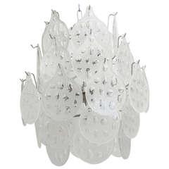 1960s Vistosi Murano Glass Chandelier