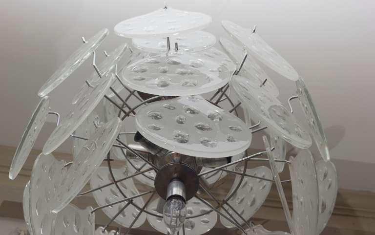1960s Vistosi Murano Glass Chandelier 5