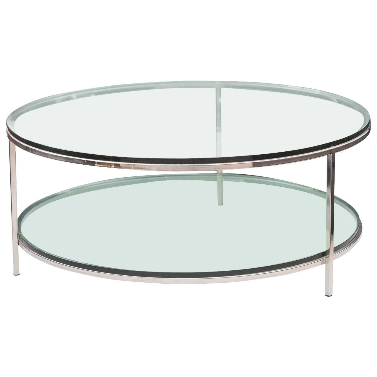 Milo baughman two tier coffee table at 1stdibs for 2 level glass coffee table