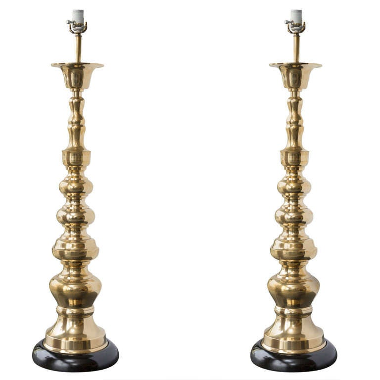 tall brass table lamps at 1stdibs