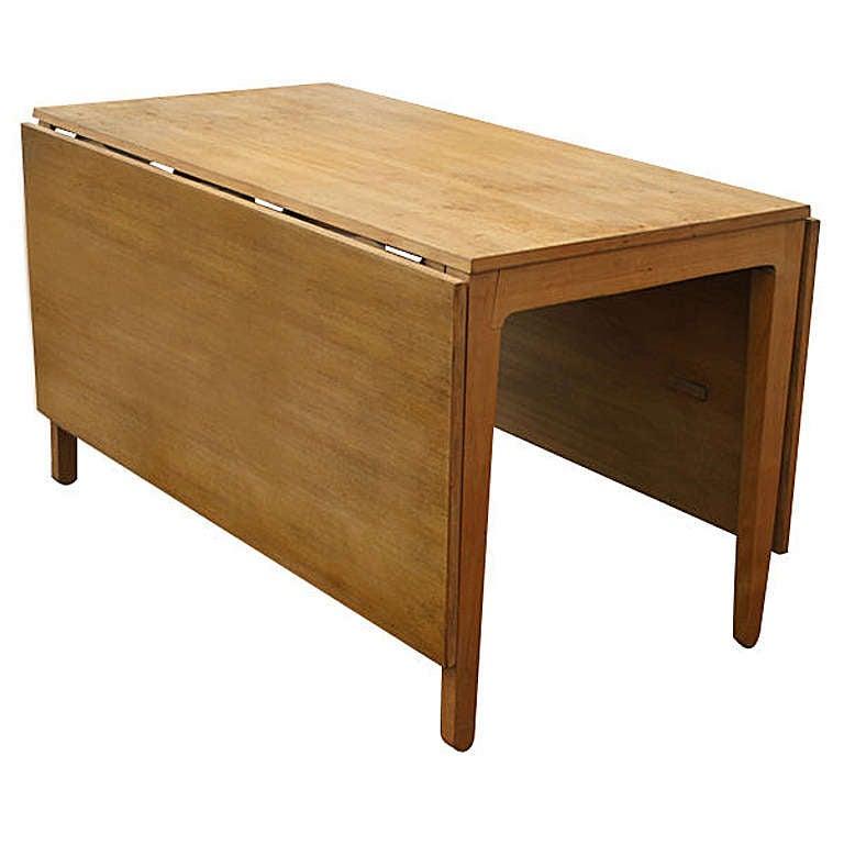 Edward wormley for drexel drop leaf precedent dining table for Dining room tables drop leaf