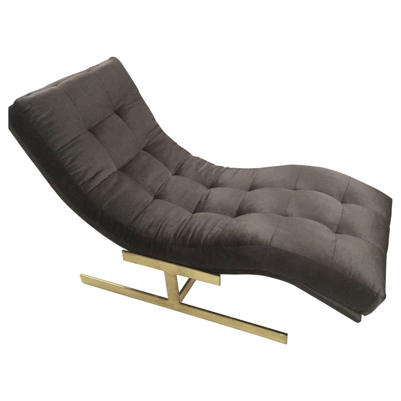 milo baughman chaise at 1stdibs. Black Bedroom Furniture Sets. Home Design Ideas