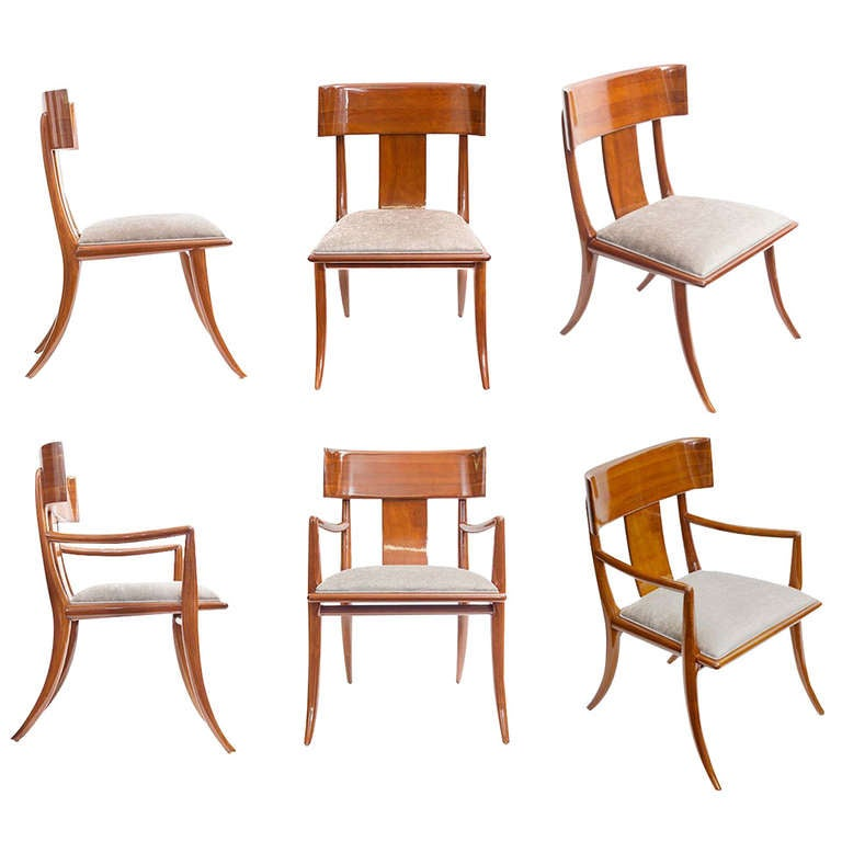 1948 klismos chairs by t h robsjohn gibbings at 1stdibs
