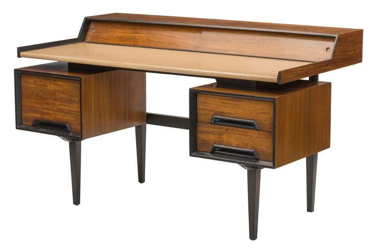 1960 39 s floating desk by milo baughman for drexel at 1stdibs - Orange floating desk ...