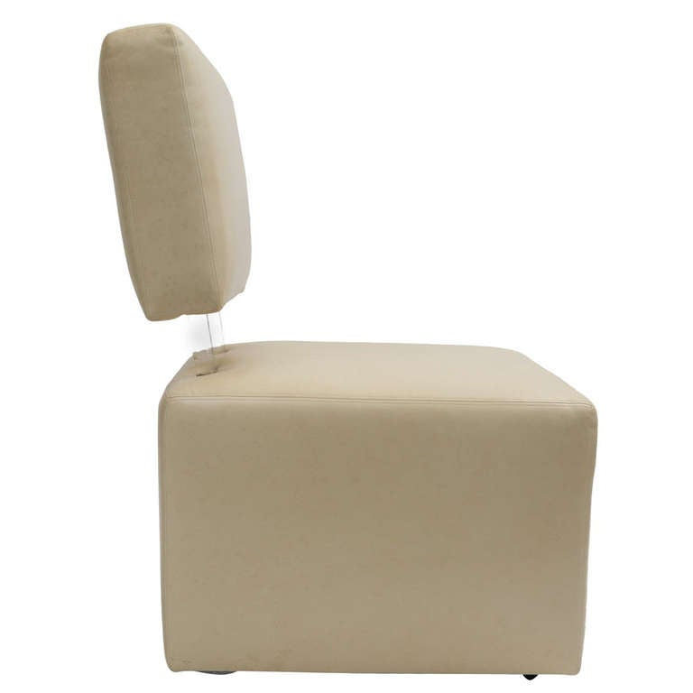 Cube Leather Chair at 1stdibs