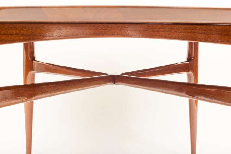1950u0027s Walnut Round Tea Table 3