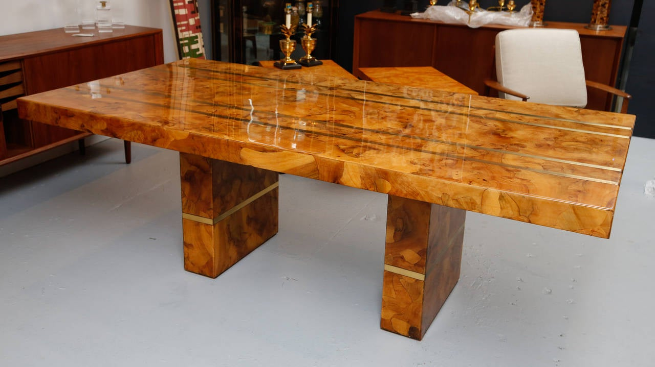 Exotic Wood Dining Table At 1stdibs