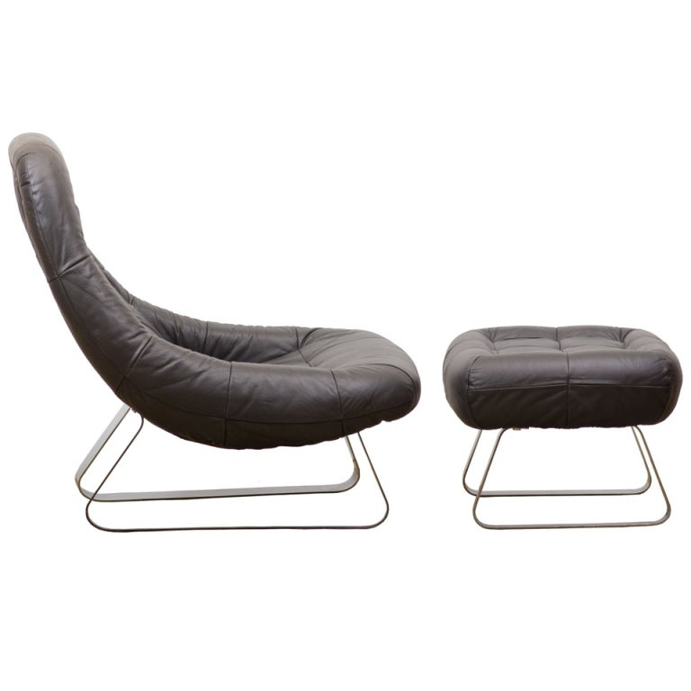 Percival Lafer Lounge Chair and Ottoman at 1stdibs
