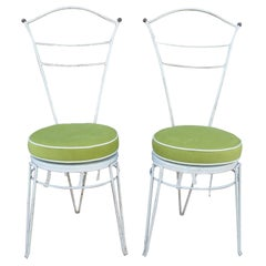Set of Eight Wrought Iron Dining Chairs by G. Ferrabini