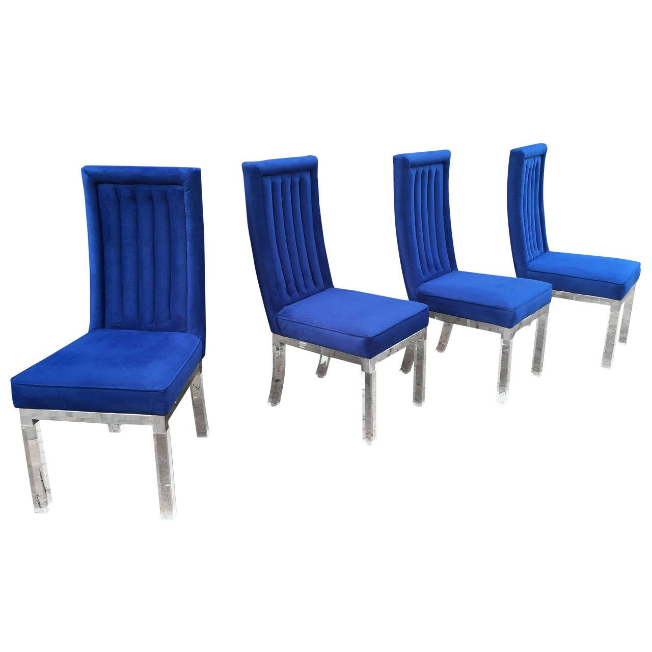 Set of Four Charles Hollis Jones Dining Chairs For Sale