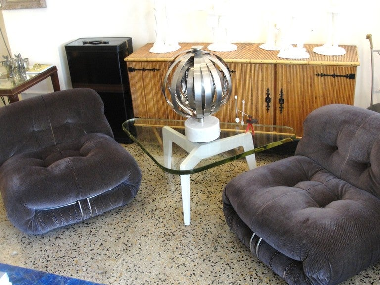Pair of Vintage Tobia Scarpa Soriana Chairs image 3