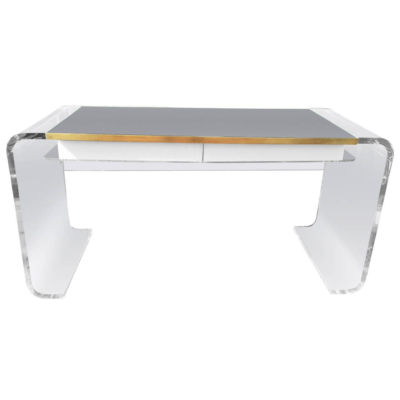 Outrageous vintage lucite waterfall desk at 1stdibs for Perspex desk