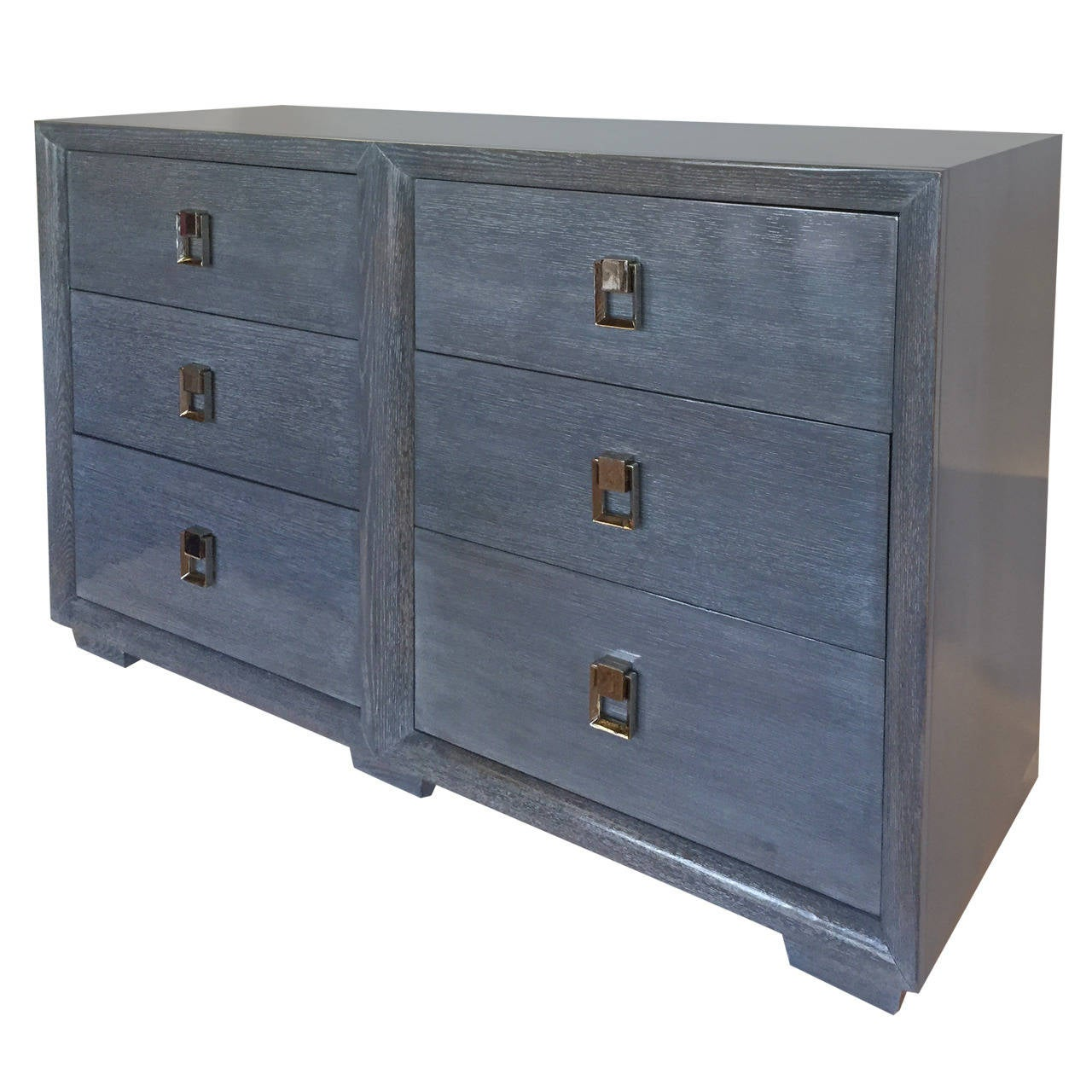 1940s elegant double commode or chest of drawers at 1stdibs. Black Bedroom Furniture Sets. Home Design Ideas