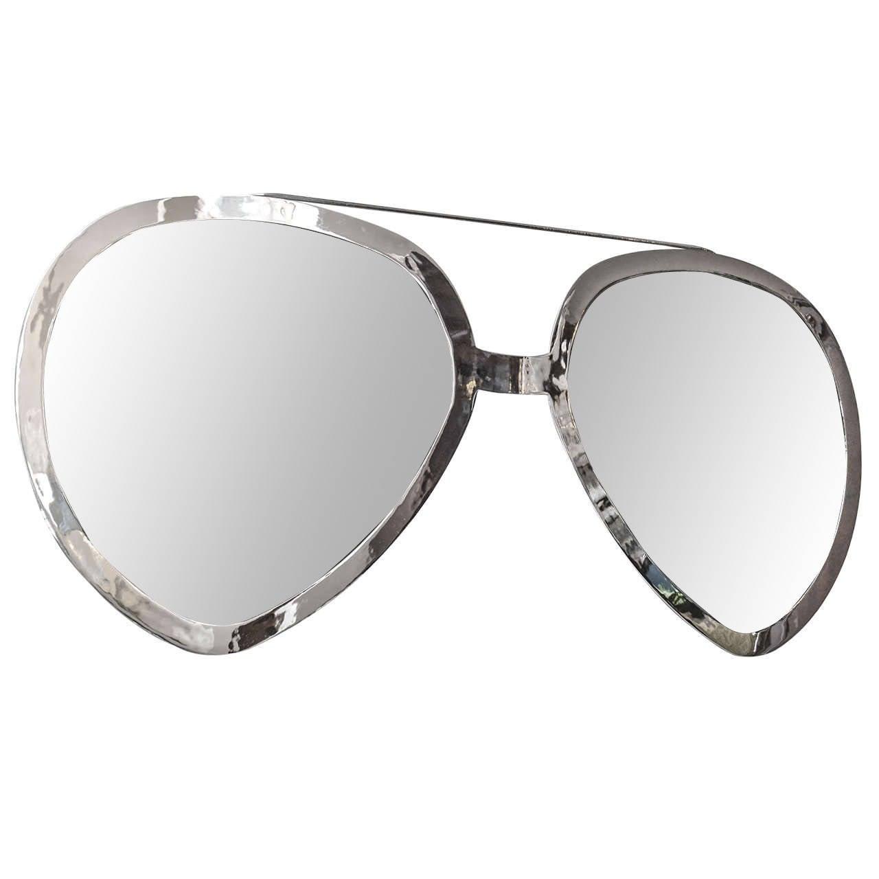 fbb361fba3 Oversized Aviator Mirror Sunglasses at 1stdibs