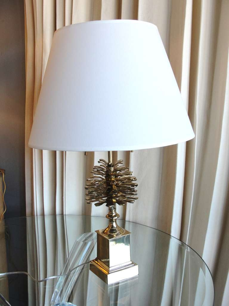 A Brass Pine Cone Table Lamp 3