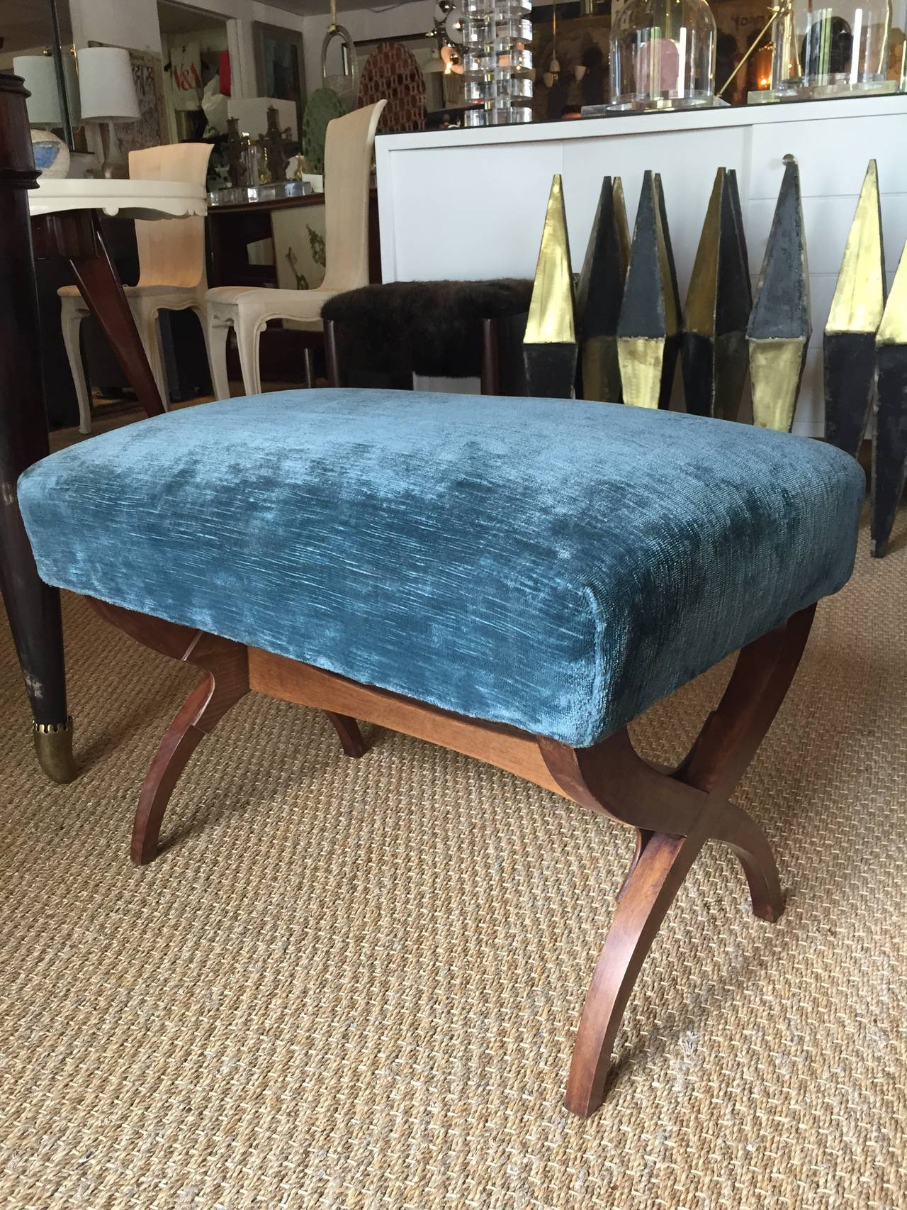 Art Deco Exceptional Tomaso Buzzi Mahogany Bench For Sale