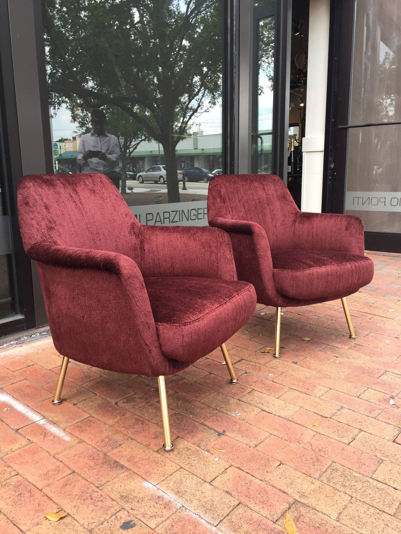 Exceptional Vintage Pair of Italian Chairs 2