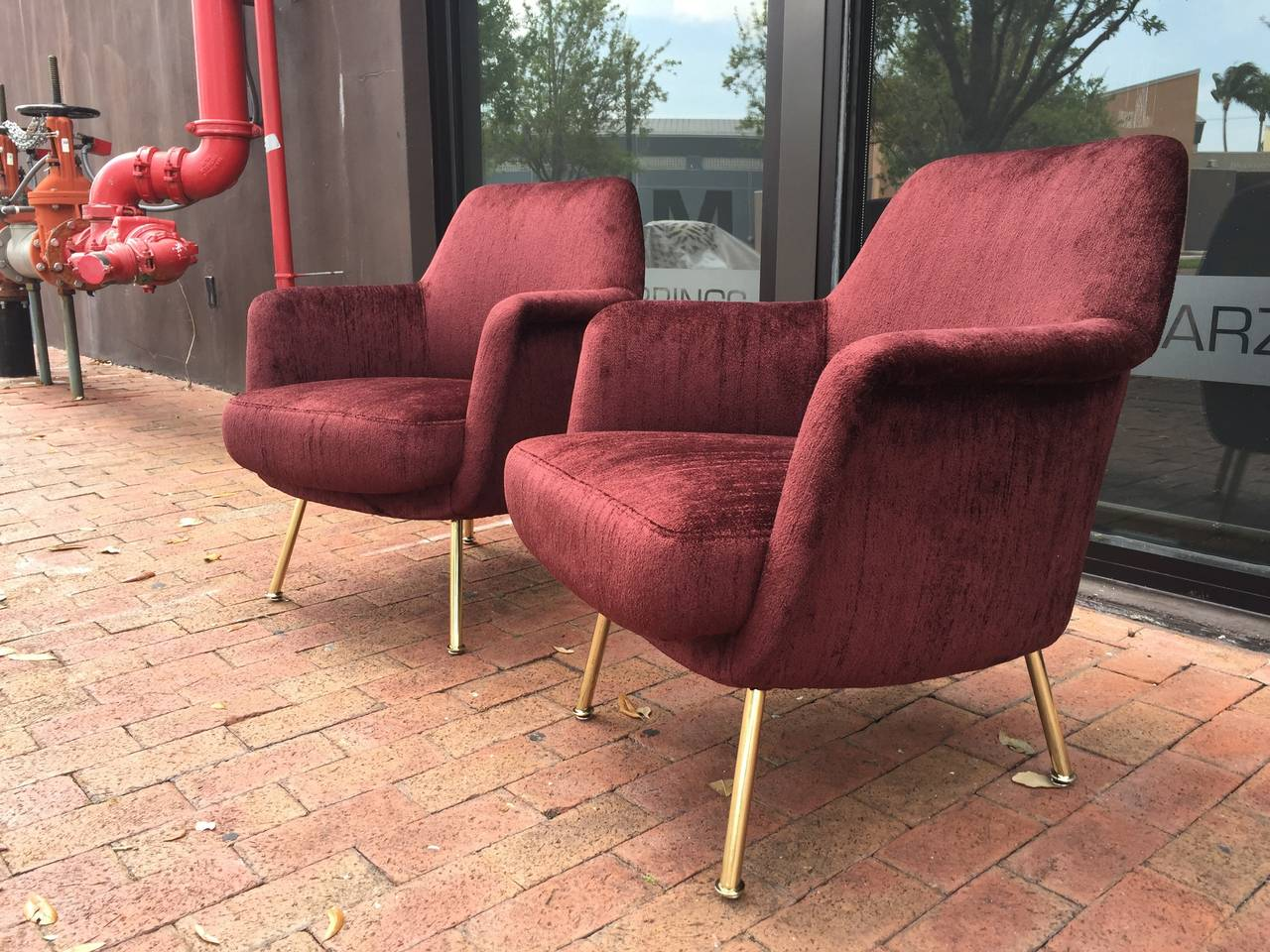 Exceptional Vintage Pair of Italian Chairs 4