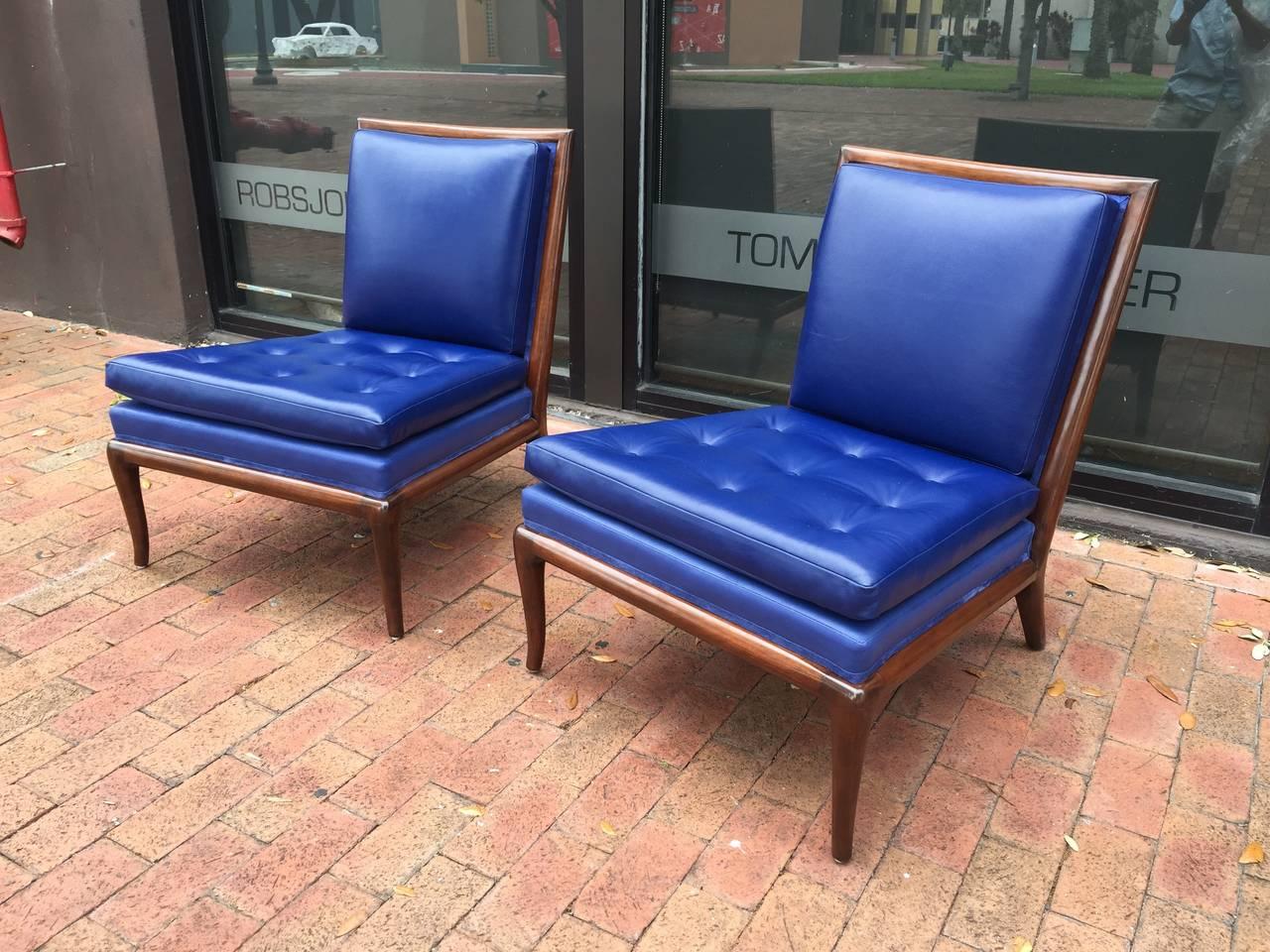T.H. Robsjohn-Gibbings Slipper Chairs, Pair 2