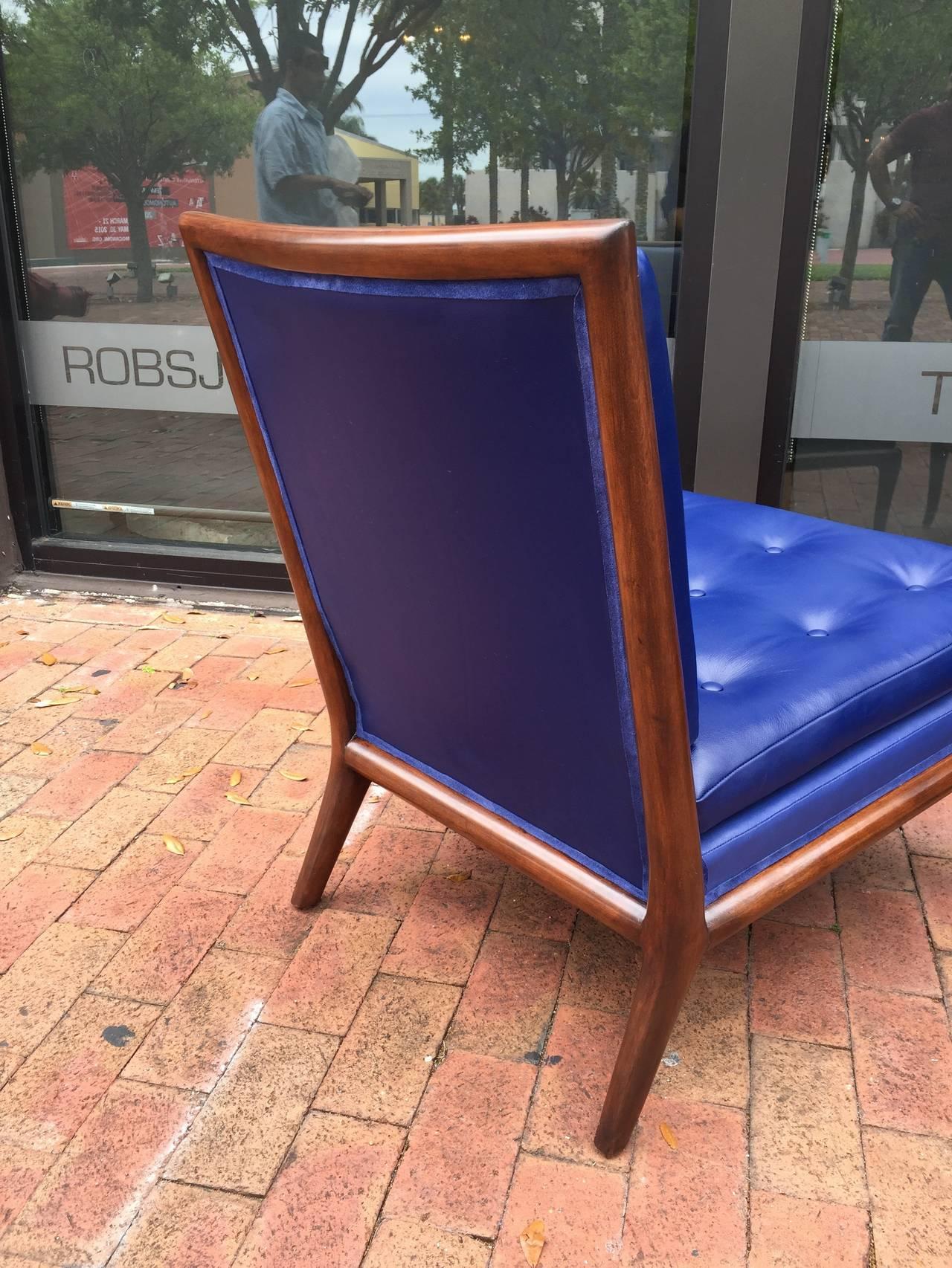 T.H. Robsjohn-Gibbings Slipper Chairs, Pair 3