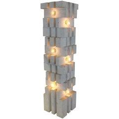 """Mangiarotti Marble Lamp """"Table or Floor"""""""