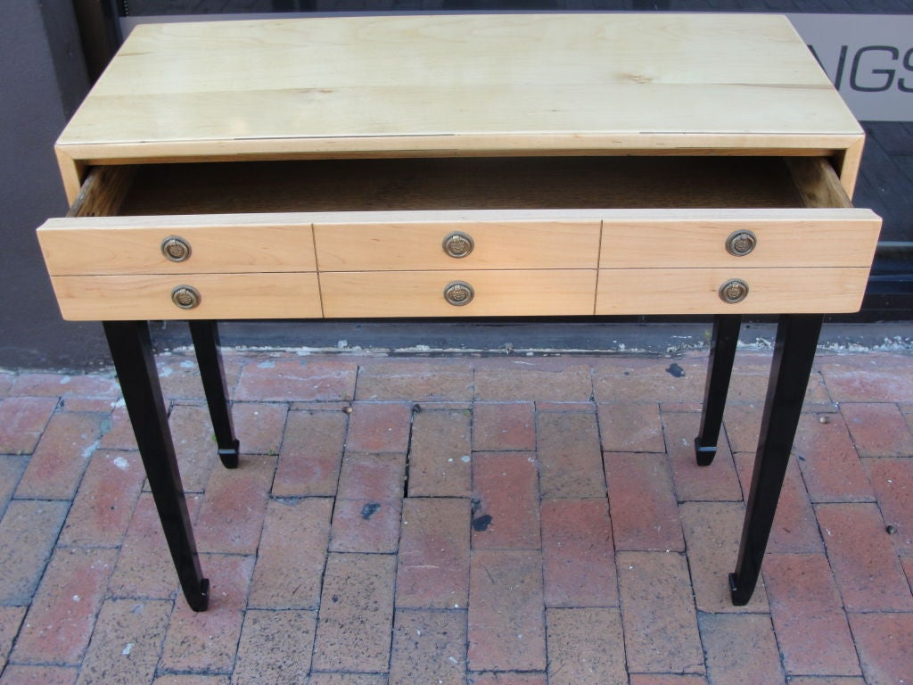 two toned asian style petite console table at 1stdibs. Black Bedroom Furniture Sets. Home Design Ideas