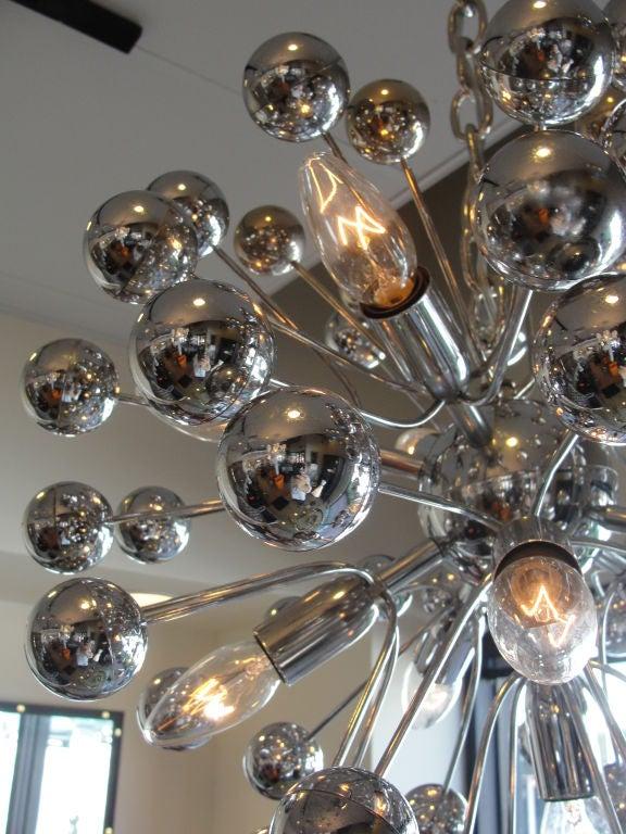 Fantastic Sputnik Chromed Chandelier At 1stdibs