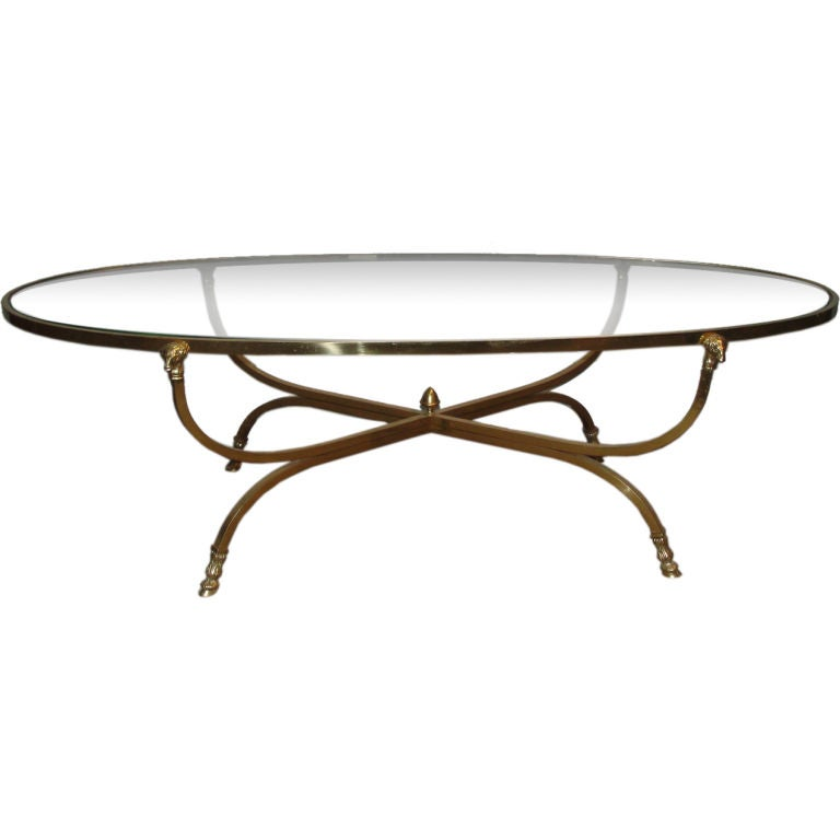 Rams Head And Hooved Leg Brass Coffee Table At 1stdibs