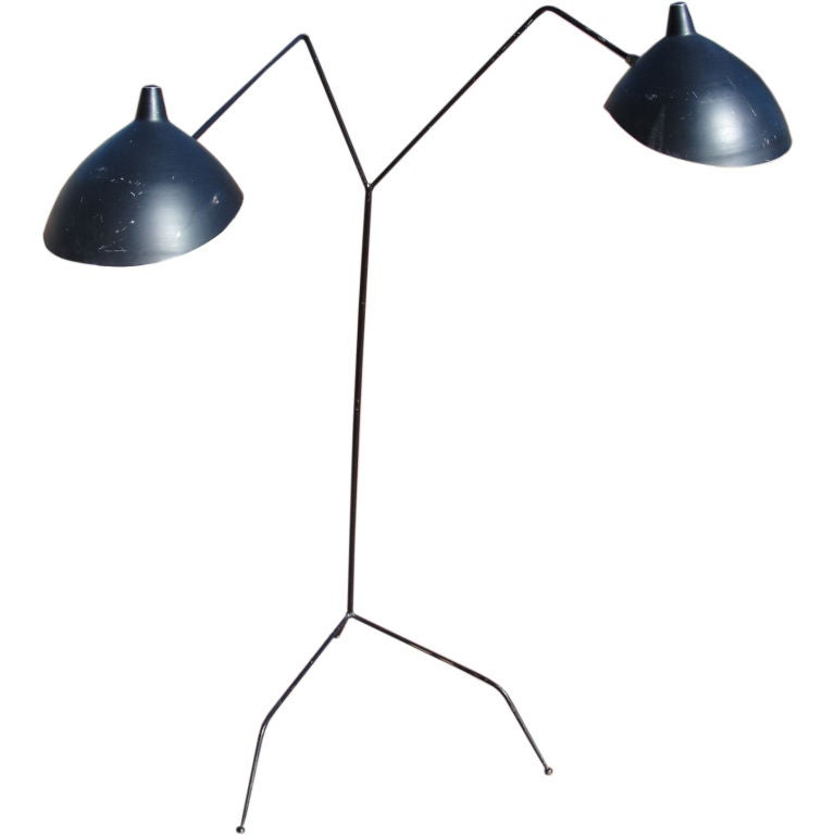 Rare serge mouille two arm floorlamp for sale at 1stdibs Serge mouille three arm floor lamp