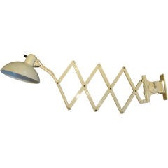 Vintage Scissor Wall Lamp by Christian Dell
