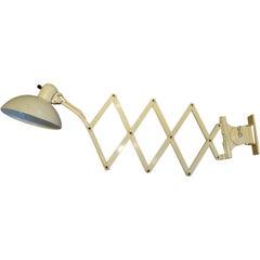 Vintage Scissor Wall Lamp by Christian Dell for Kaiser-Idell